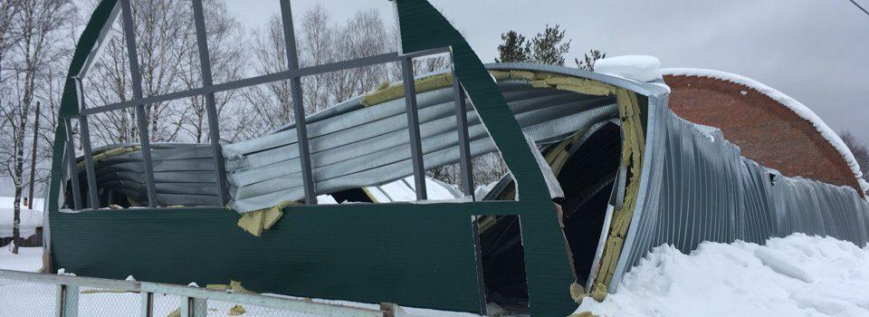 Эксперты выяснят, почему в Кочевском районе рухнул спортзал