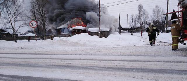 2 марта в Кудымкаре горел дом