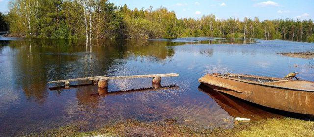 В Гайнском районе уровень воды в реках пошел на спад