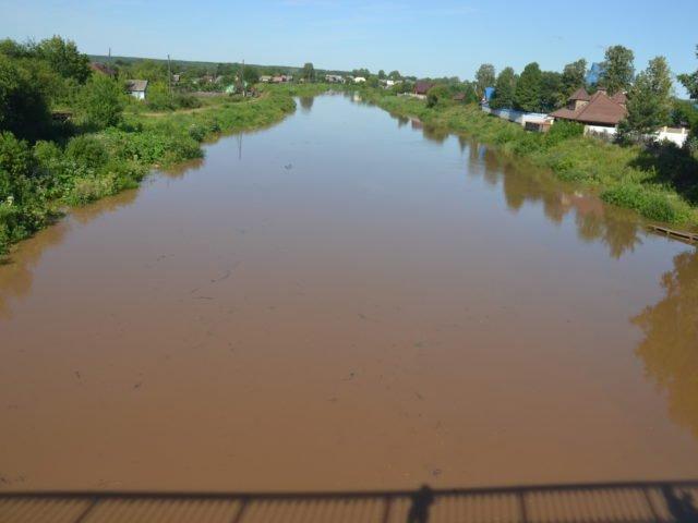 река Иньва, Синий мост, паводок в июле 2019