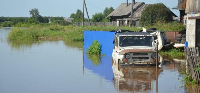 Как выглядит июльский паводок в Кудымкарском районе из космоса
