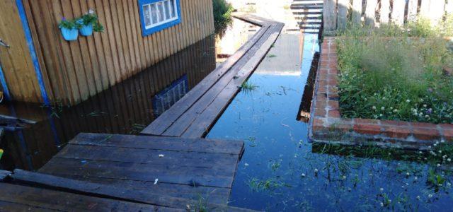 Вода в Гайнском районе заходит в дома. Вчера власти ввели режим ЧС