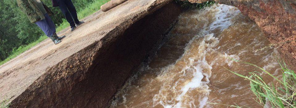 Еще один мост пострадал в Коми округе после обильных дождей