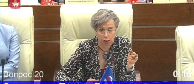 Наш депутат Елена Зырянова выступила на заседании краевого Парламента